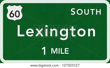 Lexington Usa Interstate Highway Sign