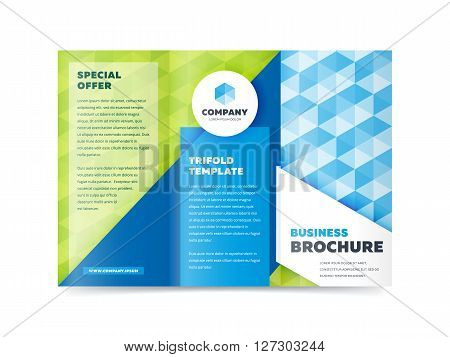 Tri fold cover and inside page. Advertising brochure template. Trifold. Tri fold brochure design. Design folding brochure. Tri fold template. Flyer layout. Creative trifold brochure. Tri fold design. Cover design concept.