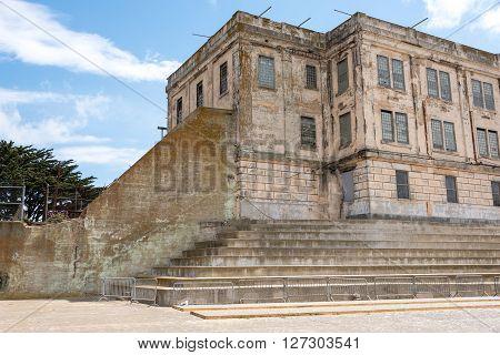 San Francisco, CA, May 13 2015: Alcatraz penitentiary exterior