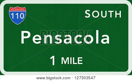 Pensacola Usa Interstate Highway Sign