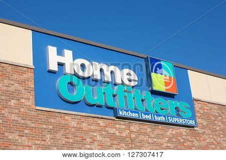 DARTMOUTH CANADA - APRIL 25 2016: Home Outfitters is a home decor retail chain. Home Outfitters has 67 stores in Canada selling various home accessories.