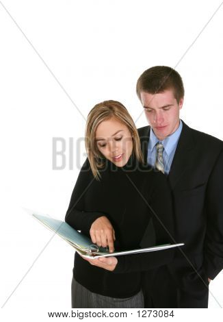 Business Team Reviewing Notes