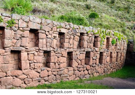 South America Pisac (Pisaq) - Inca ruins in the sacred valley in the Peruvian Andes Peru