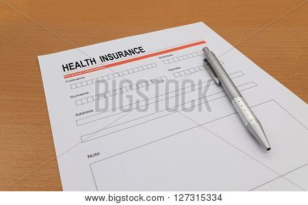 health Insurance application form, health, claim, coverage, secure,