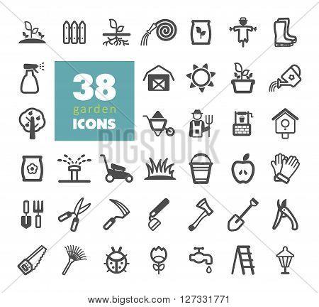 Garden Farm vector icon outline isolated garden eps 10