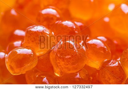 a background made of a red caviar macro ** Note: Shallow depth of field