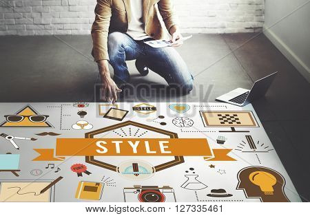 Style Trends Fashion Lifestyle Concept