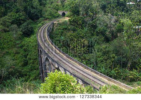 Highly detailed image of Nine arches bridge Ella Sri Lanka