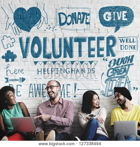 Volunteer Donate Give Helping Hand Concept
