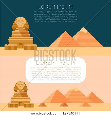 Vector image of the Set of Egypet banners