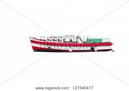motor boat under the white background
