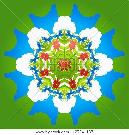 Abstract  nature ornament for design banner,ticket, leaflet and so on.