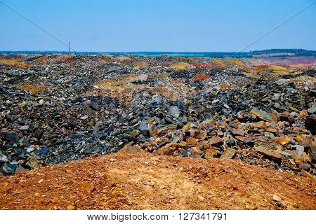 Area with dumps of depleted iron ore