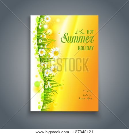 Floral hot card. Nature template for design banner,ticket, leaflet, card, poster and so on.
