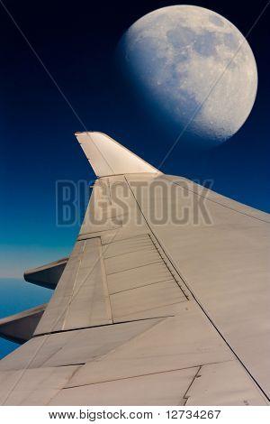 Céu noturno de voo