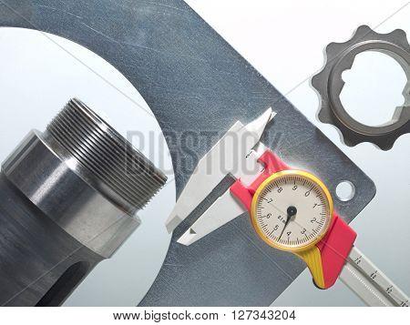 caliper, measuring instrument of mechanical pieces