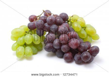uvas de la vid en blanco aislado