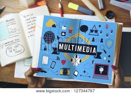 Multimedia Entertainment Channels Audio Content Concept