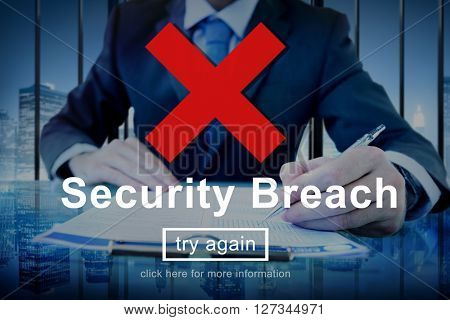 Security Breach Risk Dangerous Hacking Concept