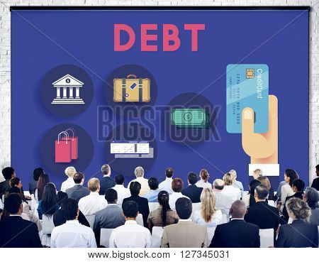 Debt Banking Financial Loan Money Trouble Bill Concept