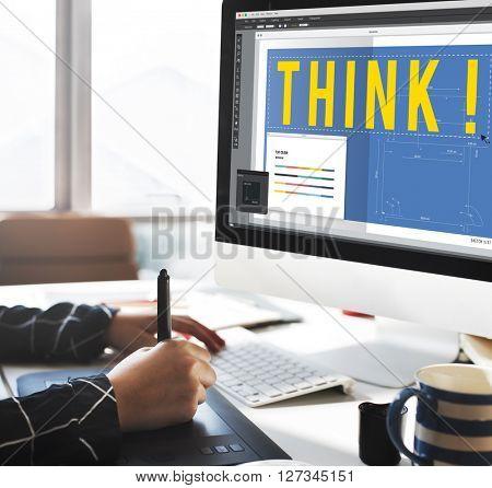 Think Thinking Design Creative Ideas Concept