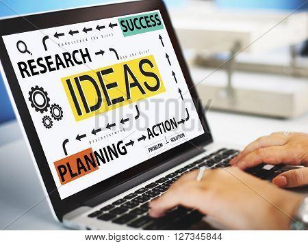Ideas Research Planning Success Conceptualize Concept