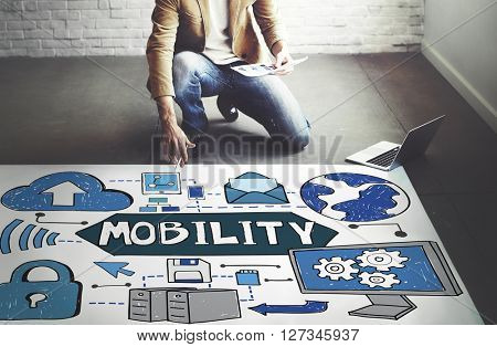 Mobility Smart Phone Technology Connection Concept