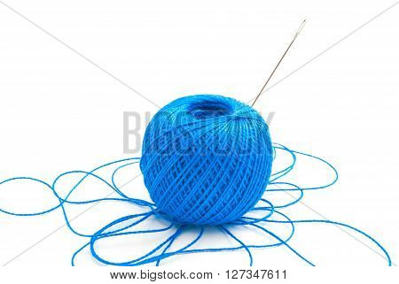 Spool Of Blue Thread, And Needle