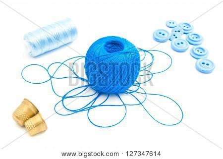 Spools Of Thread, Thimbles And Buttons