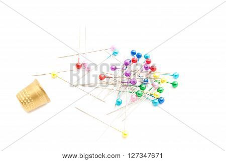 Colored Pins And Thimbles