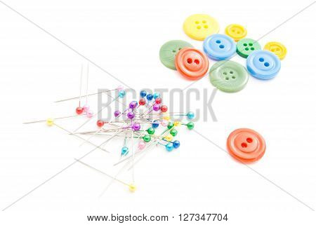 Colored Pins And Plastic Buttons