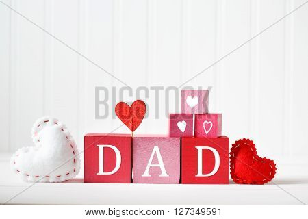 Fathers Day Message With Wooden Blocks