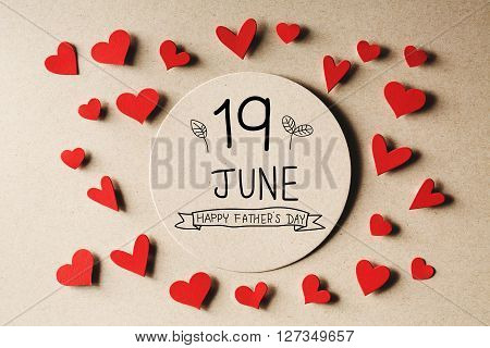 19 June Happy Fathers Day Message With Small Hearts