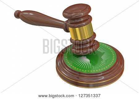 African Court of Justice concept 3D rendering