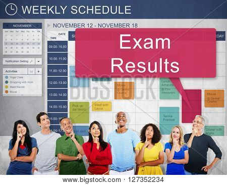 Exam Results Schedule Reminder Report Concept