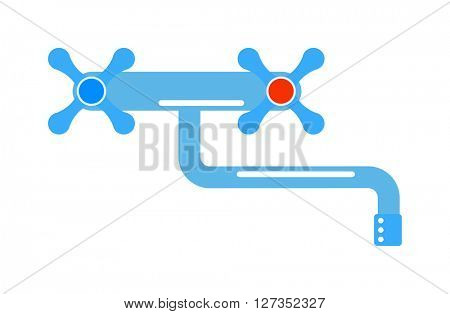 Water faucet vector illustration.
