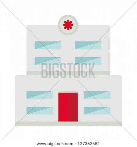 Hospital building vector illustration.