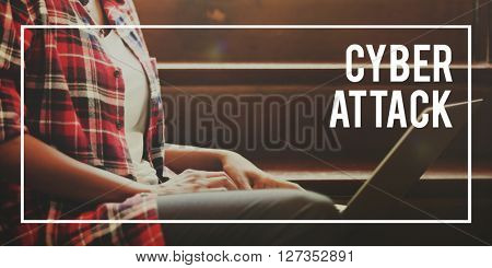 Cyber Attack Crash Hacking Hacker Concept