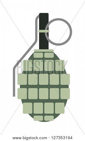 Hand grenade vector.