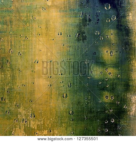 Creative elegant design used as retro background for your art project. With grunge texture and different color patterns: yellow (beige); brown; green; blue; black