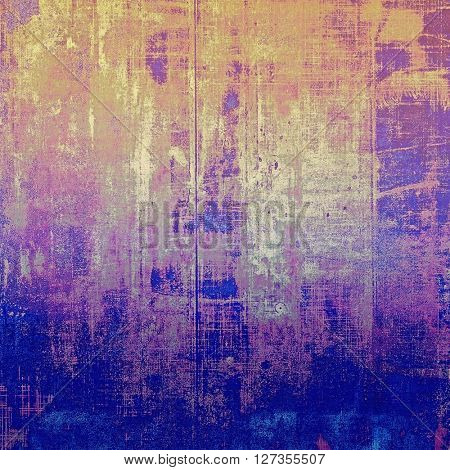 Vintage background - dirty ancient texture. Antique grunge backdrop with different color patterns: yellow (beige); brown; blue; gray; purple (violet); pink