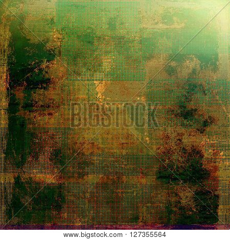 Old style design, textured grunge background with different color patterns: yellow (beige); brown; green; red (orange); black