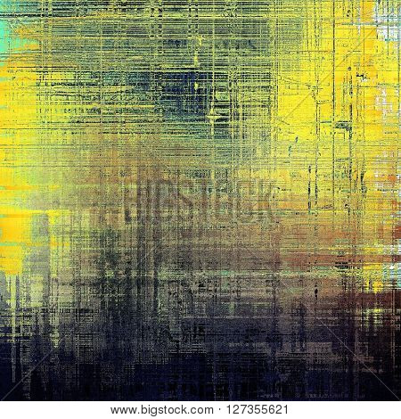 Grunge scratched background, abstract vintage style texture with different color patterns: yellow (beige); brown; green; blue; gray; black