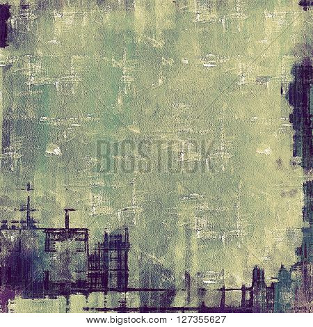Vintage background - dirty ancient texture. Antique grunge backdrop with different color patterns: yellow (beige); green; gray; purple (violet)
