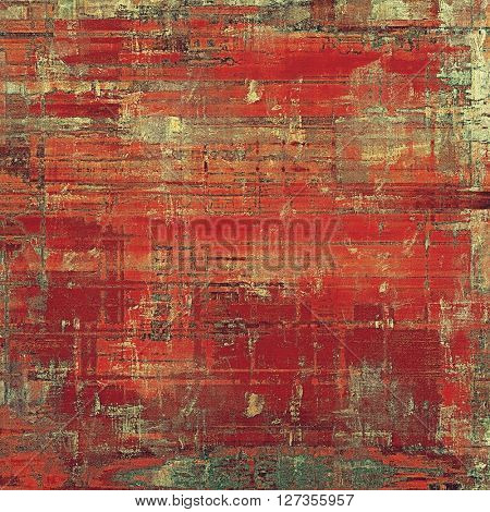 Vintage old retro background with ancient style design elements and different color patterns: yellow (beige); brown; red (orange); gray; cyan; pink