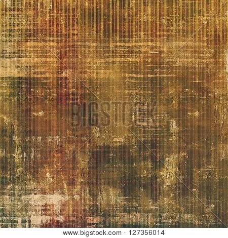 Scratched vintage texture, grunge style frame or background. With different color patterns: yellow (beige); brown; green; gray