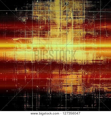 Grunge background or texture with vintage frame design and different color patterns: yellow (beige); brown; red (orange); black