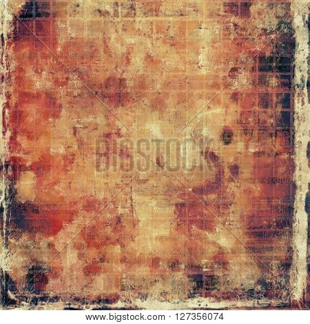 Distressed grunge texture, damaged vintage background with different color patterns: yellow (beige); brown; red (orange); gray; pink; black