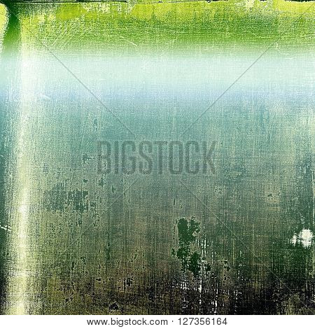 Vintage style shabby texture or background with classy grungy elements and different color patterns: green; blue; gray; cyan; black; white