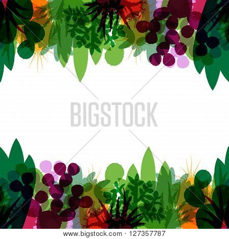 Seamless border of silhouettes of cacti and succulents. Seamless background of modern silhouettes houseplants. Horizontal border of cactus isolated on white background. Vector illustration.